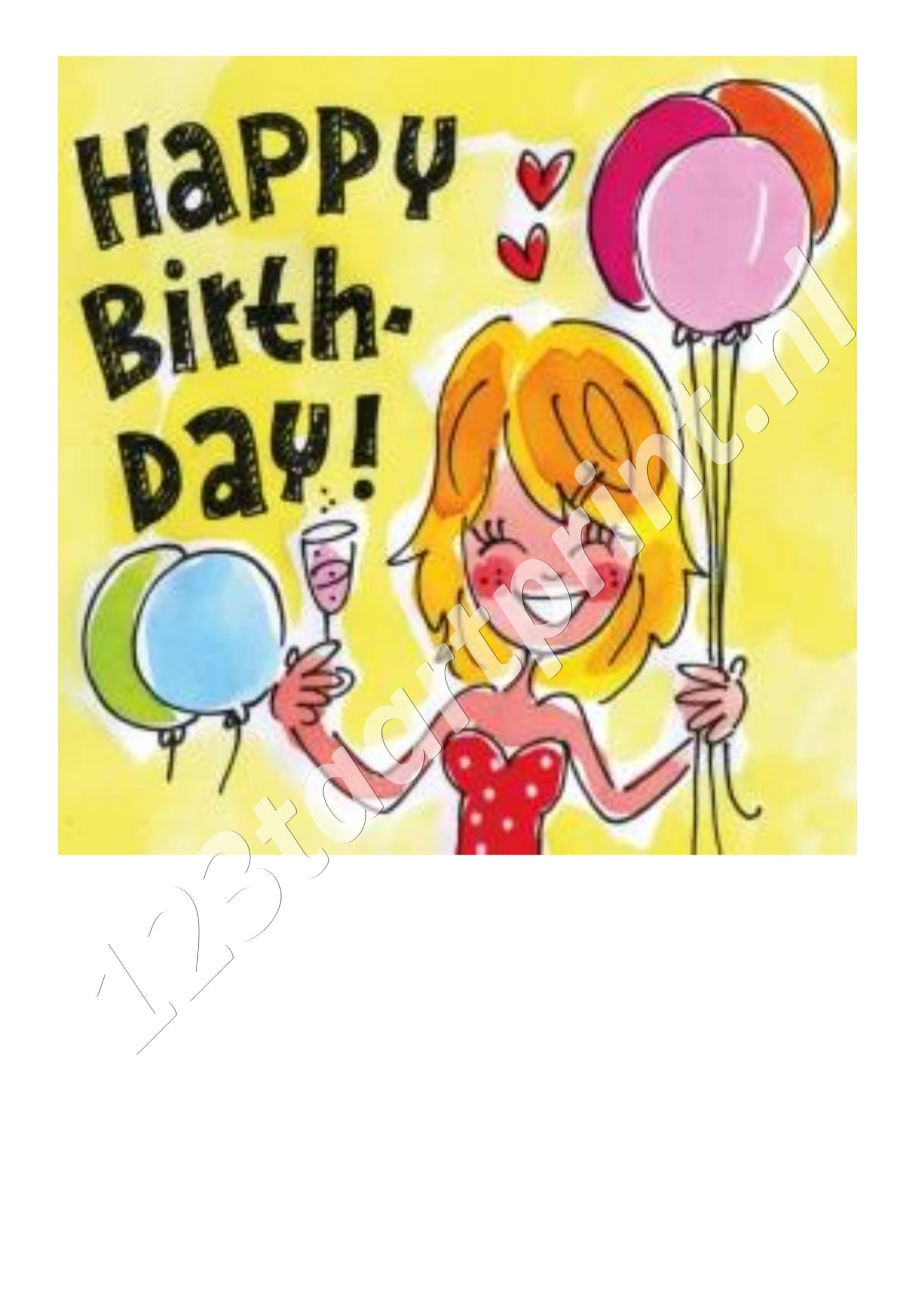 Blond Happy Birthday 2