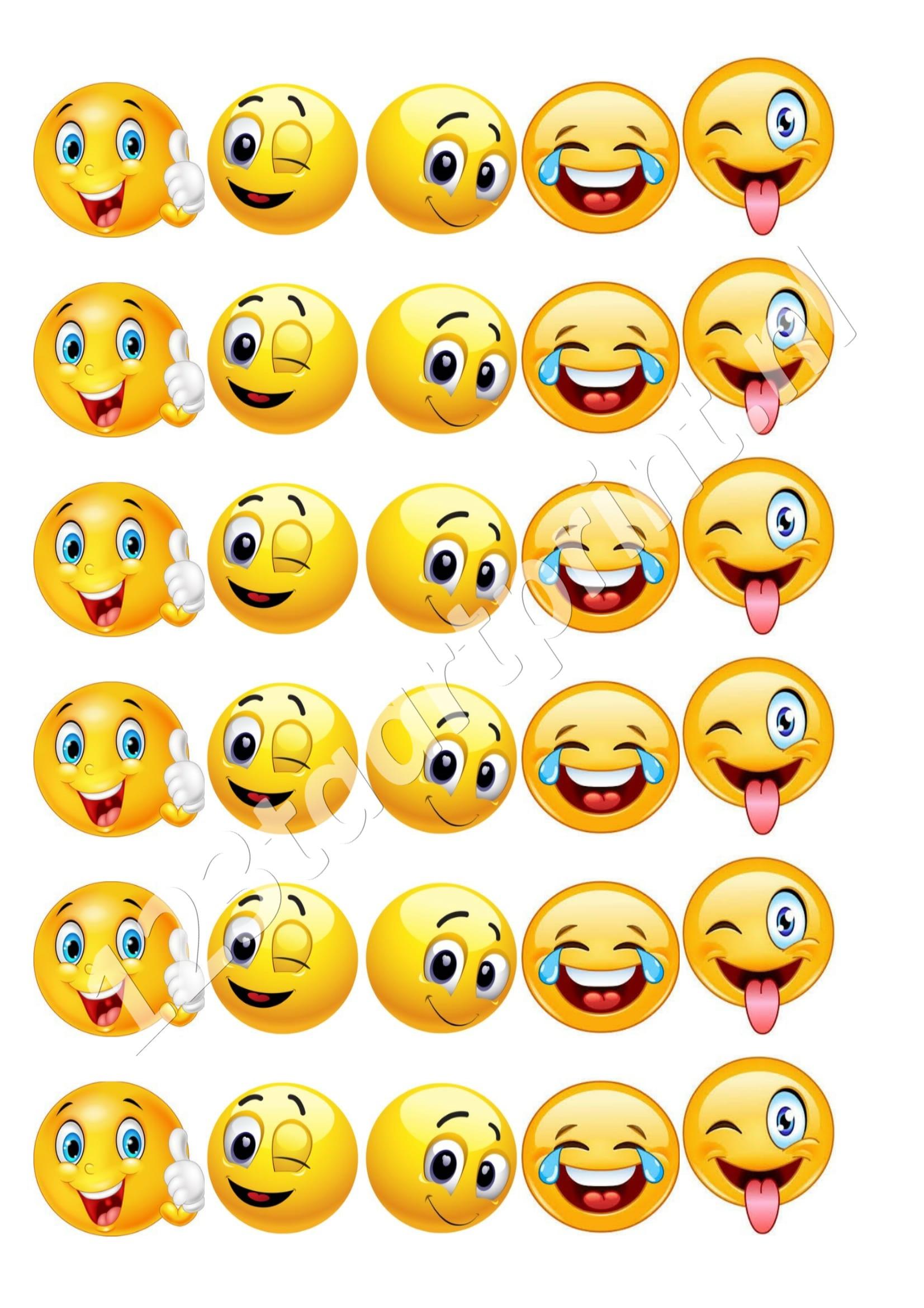 Emoticons cupcakes