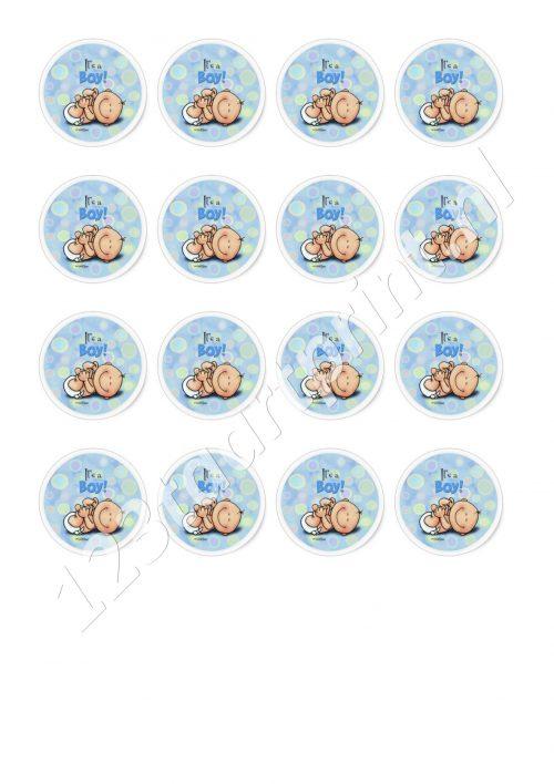 Geboorte jongen 2 cupcakes