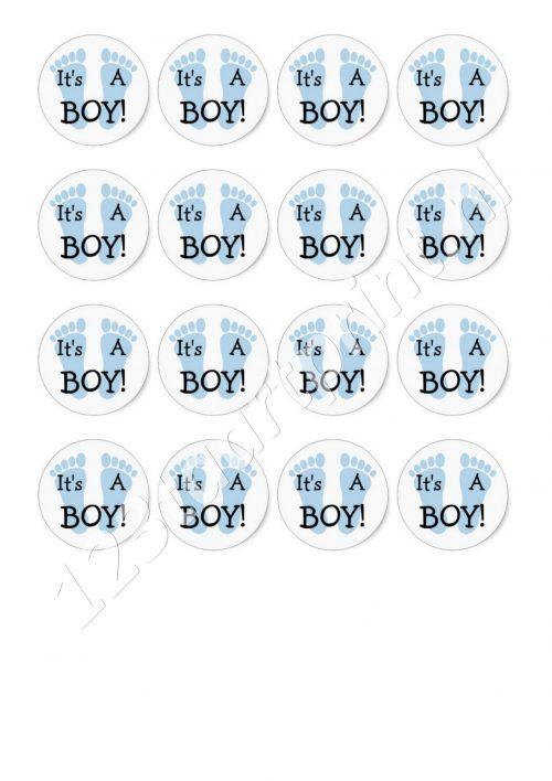 Geboorte jongen 3 cupcakes