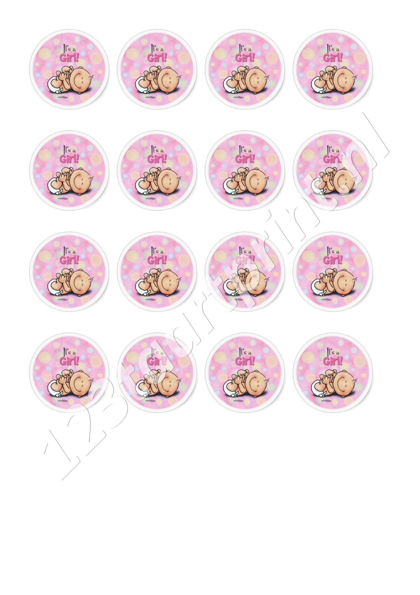 Geboorte meisje 1 cupcakes