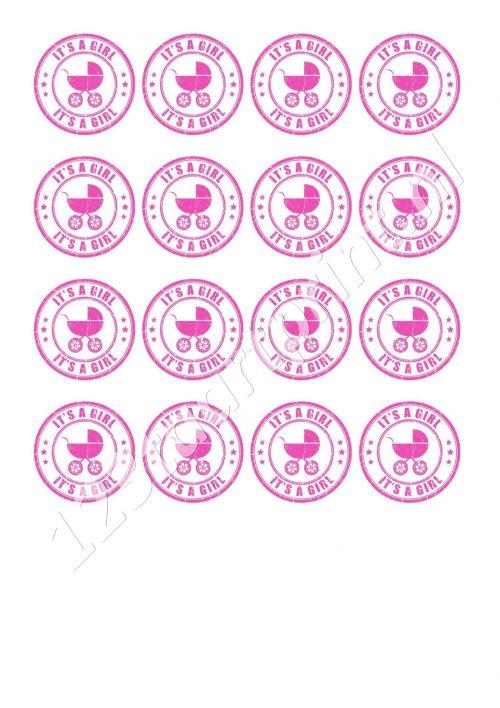 Geboorte meisje 5 cupcakes