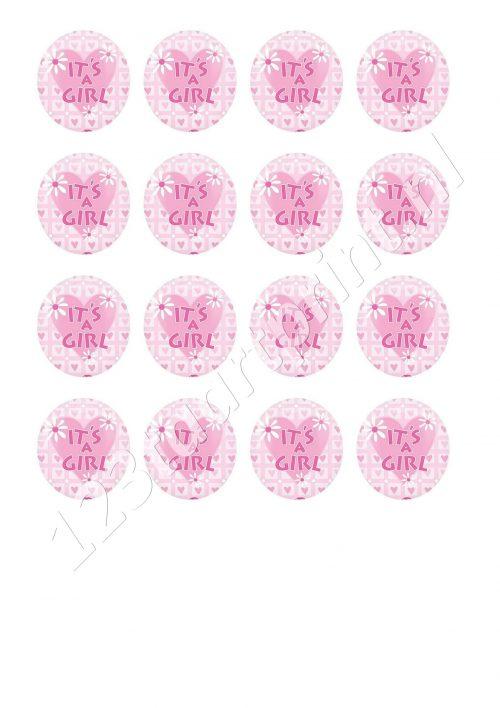 Geboorte meisje 6 cupcakes