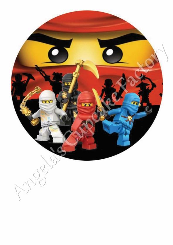 Lego Ninjago Verjaardag.Eetbare Print Lego Ninjago Rond
