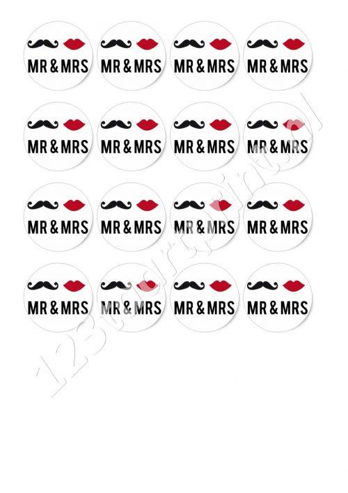 Mr & Mrs 1 cupcakes