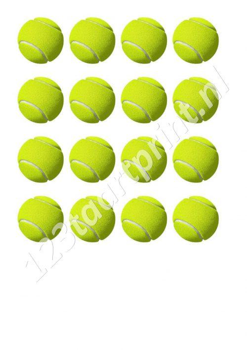 Tennisbal cupcakes