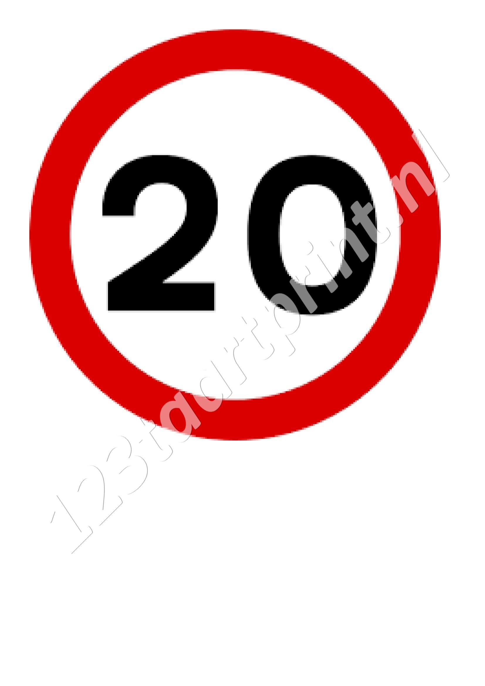 Verkeersbord 20e verjaardag