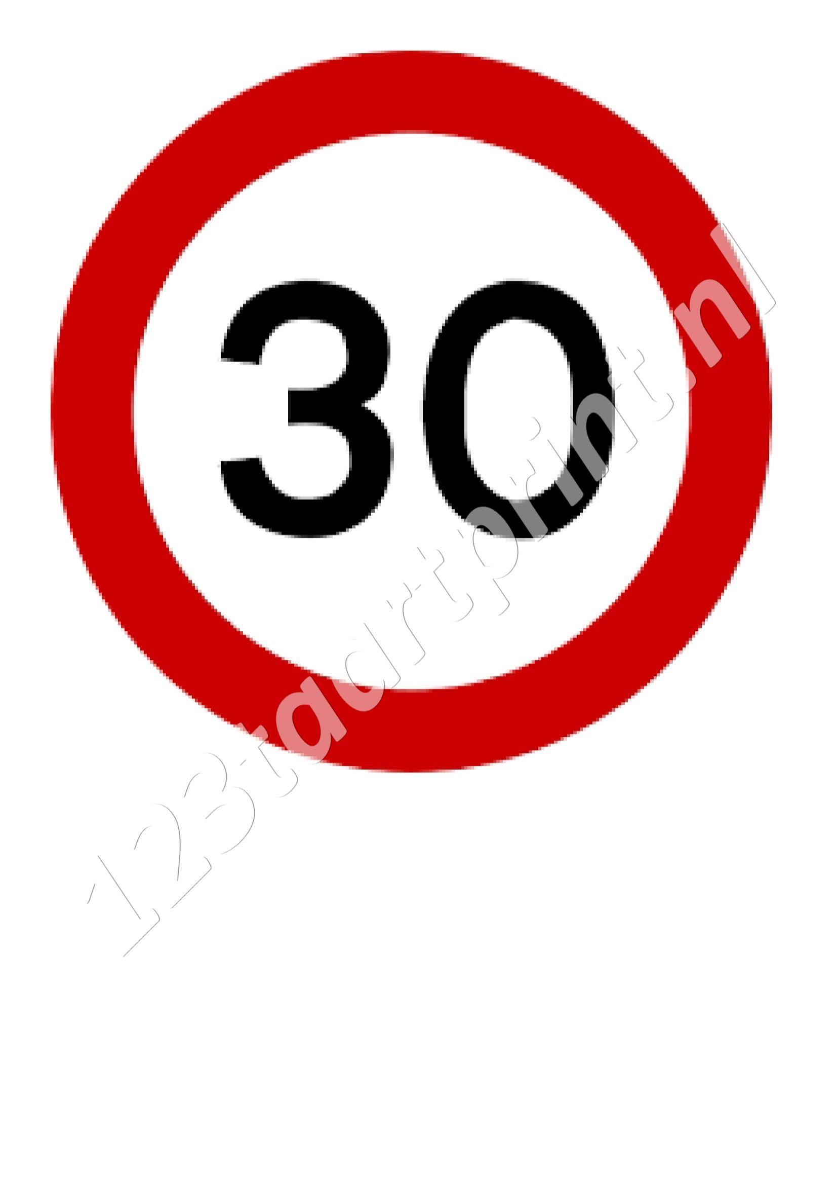 Verkeersbord 30e Verjaardag 123taartprint Com