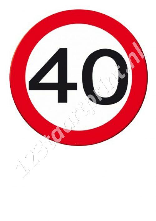 Verkeersbord 40e verjaardag