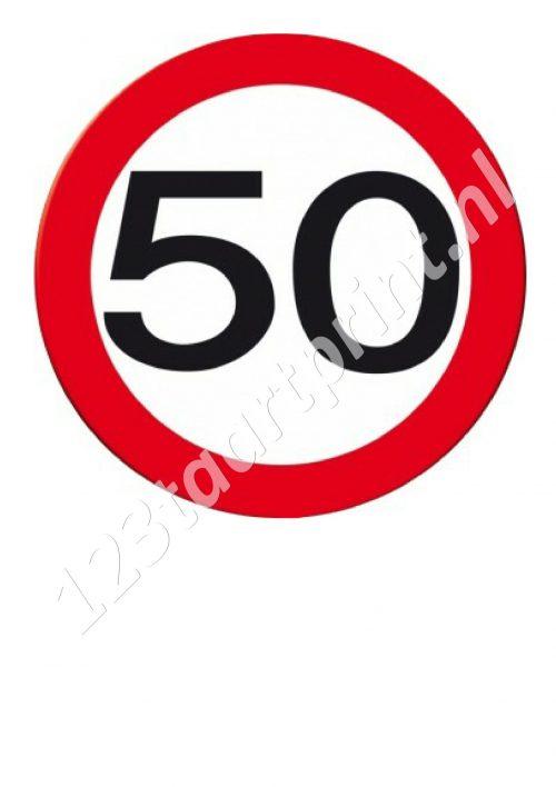 Verkeersbord 50e verjaardag