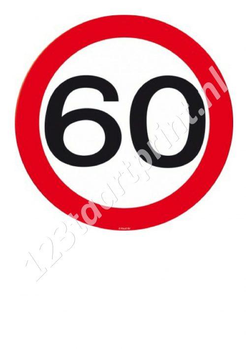 Verkeersbord 60e verjaardag