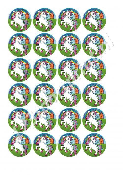 Eenhoorn 6 cupcakes