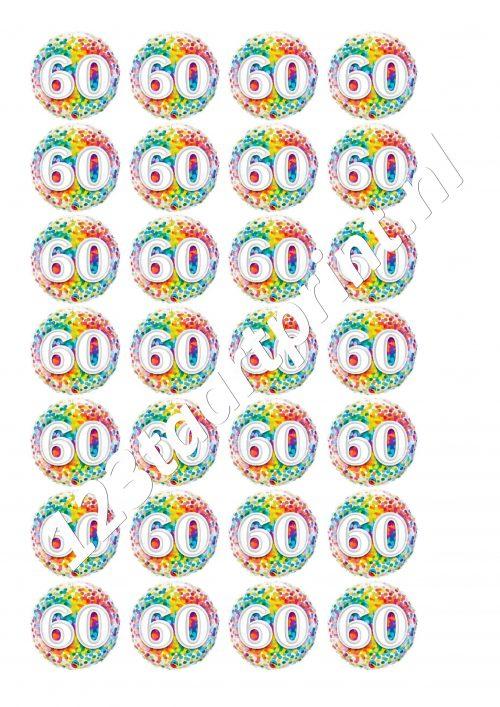 Verjaardag 60 cupcakes