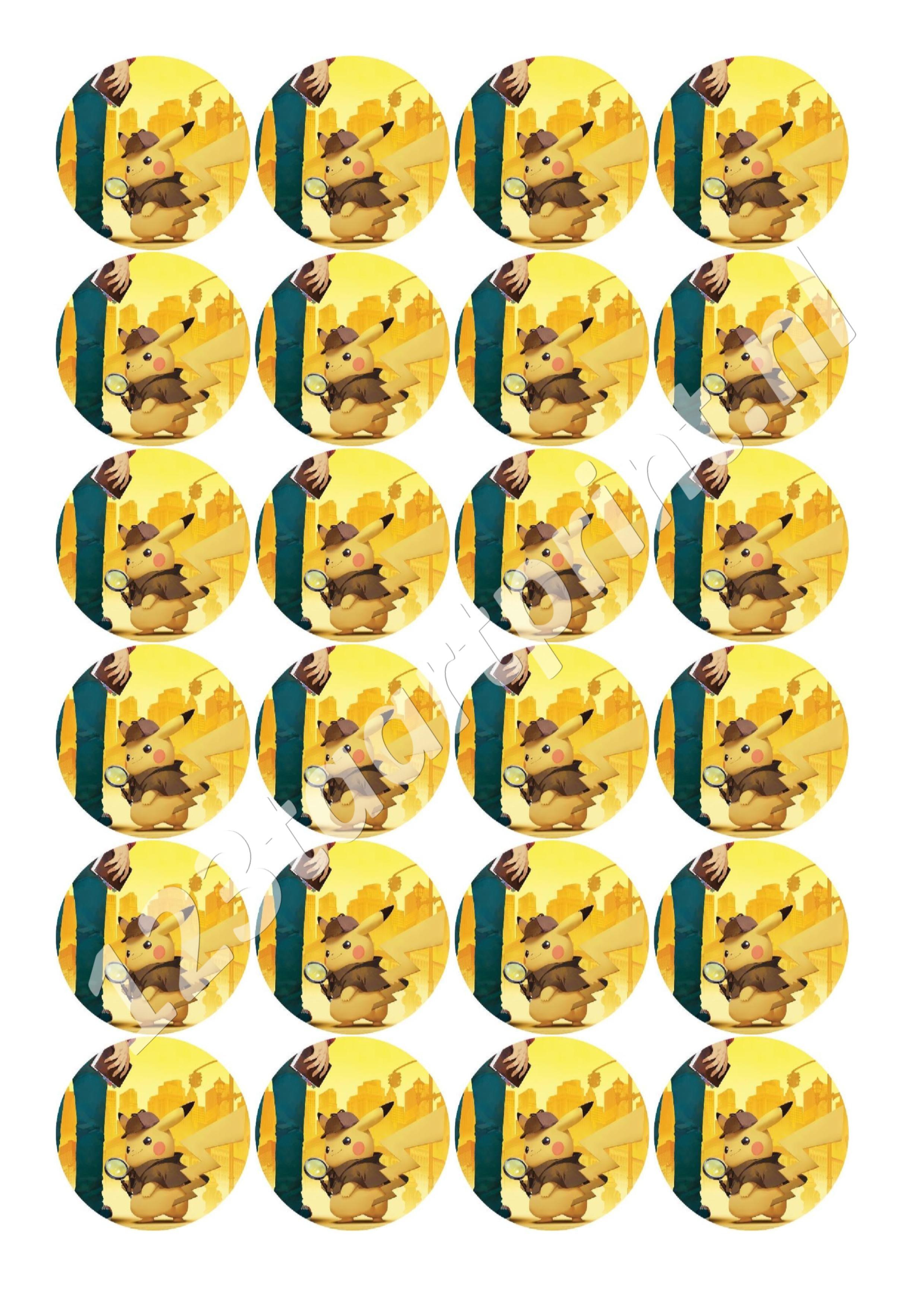 Pokémon Detective Pikachu cupcakes