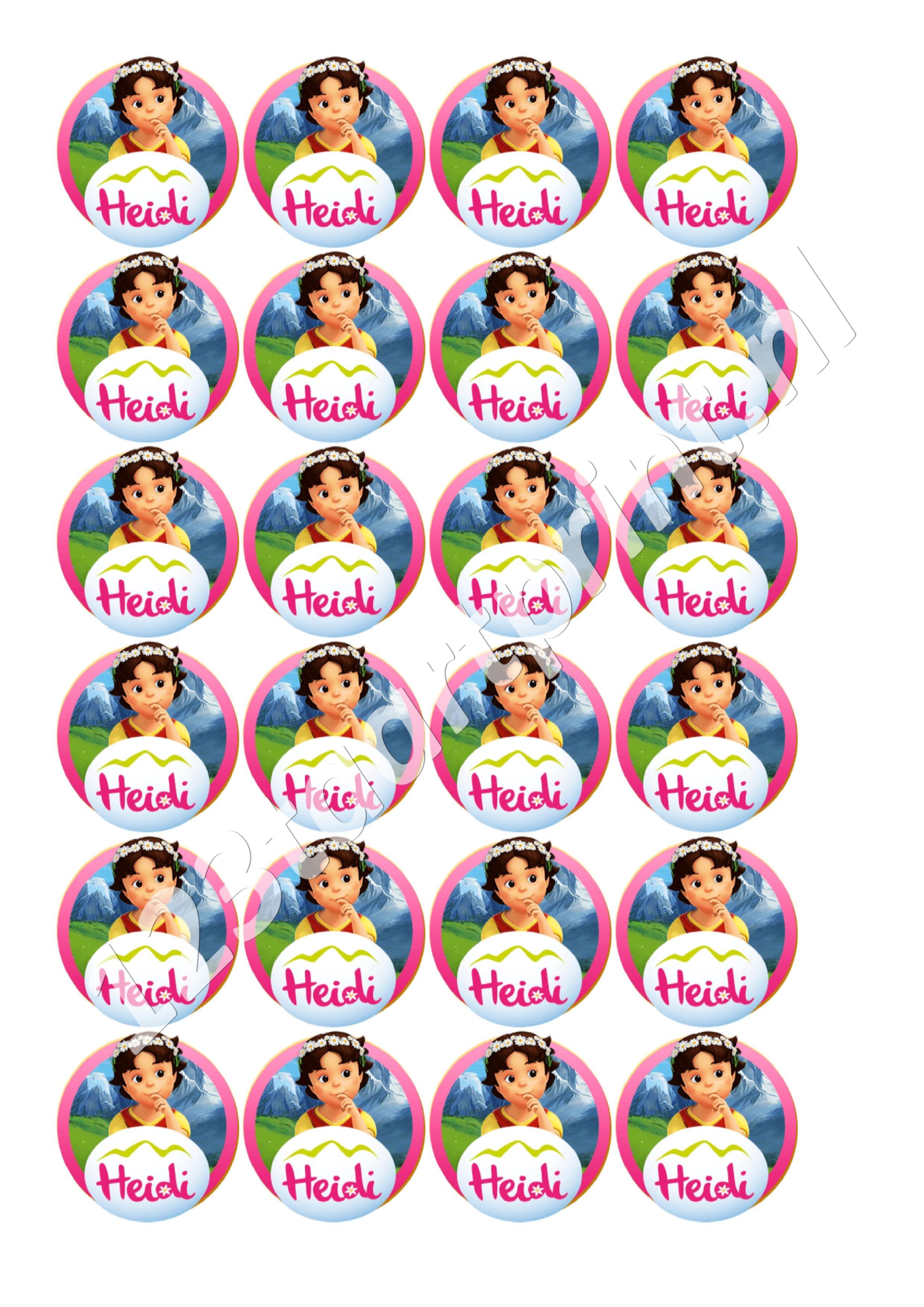 Heidi rond 3 cupcakes