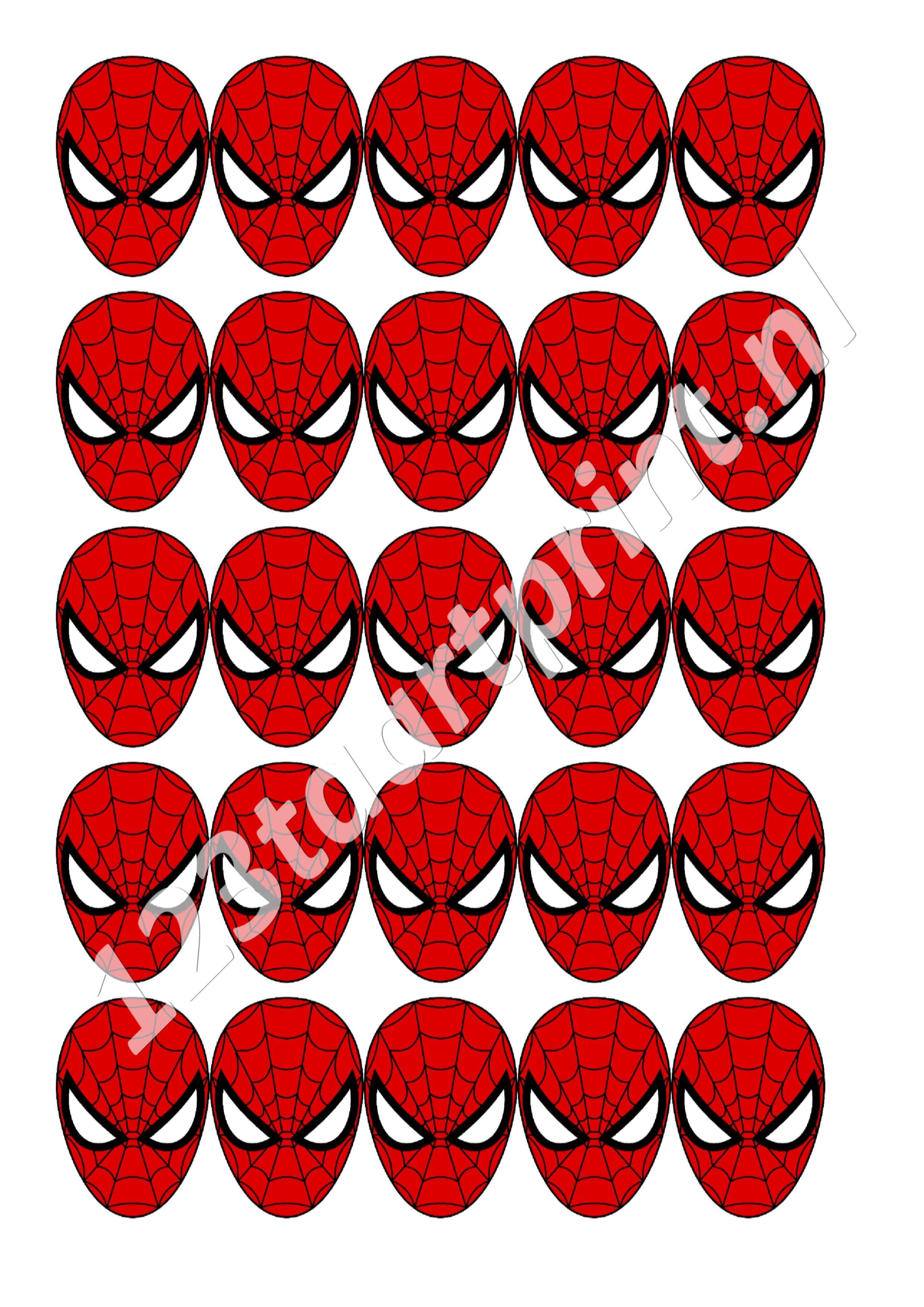Spiderman Masker cupcakes