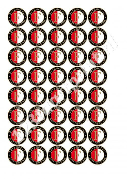 Feyenoord cupcakes mini