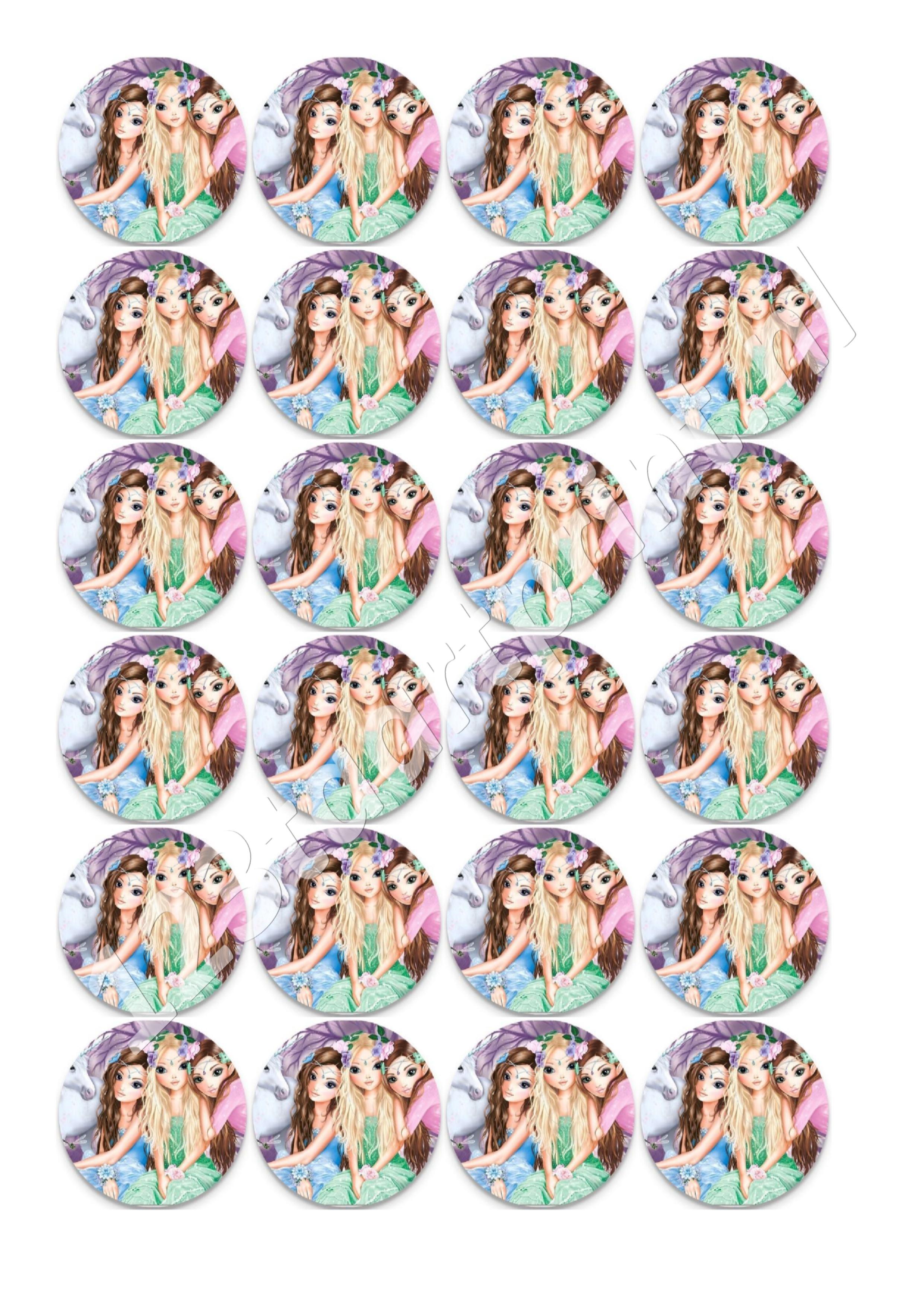 Topmodels rond cupcakes