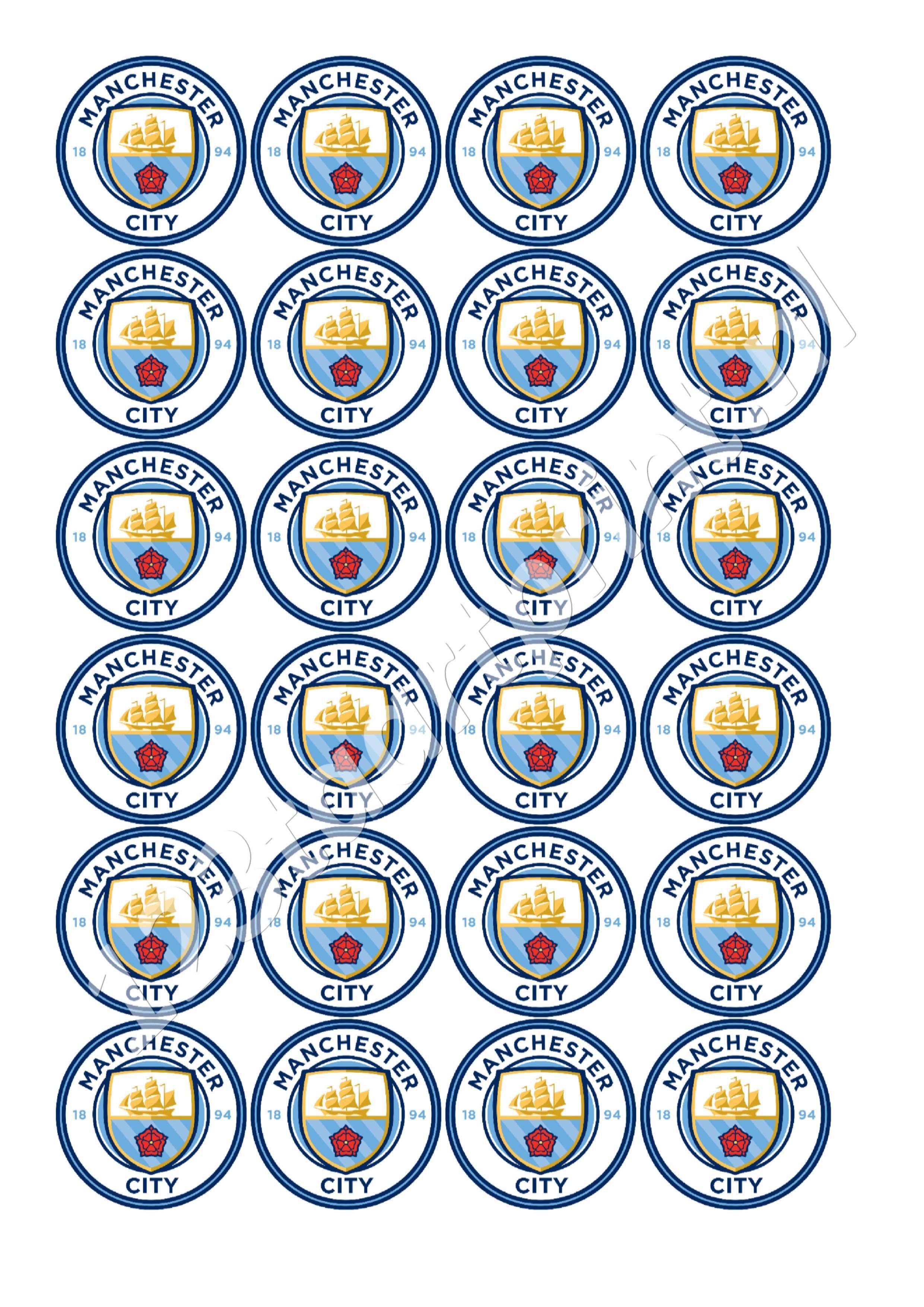 Manchester City logo cupcakes