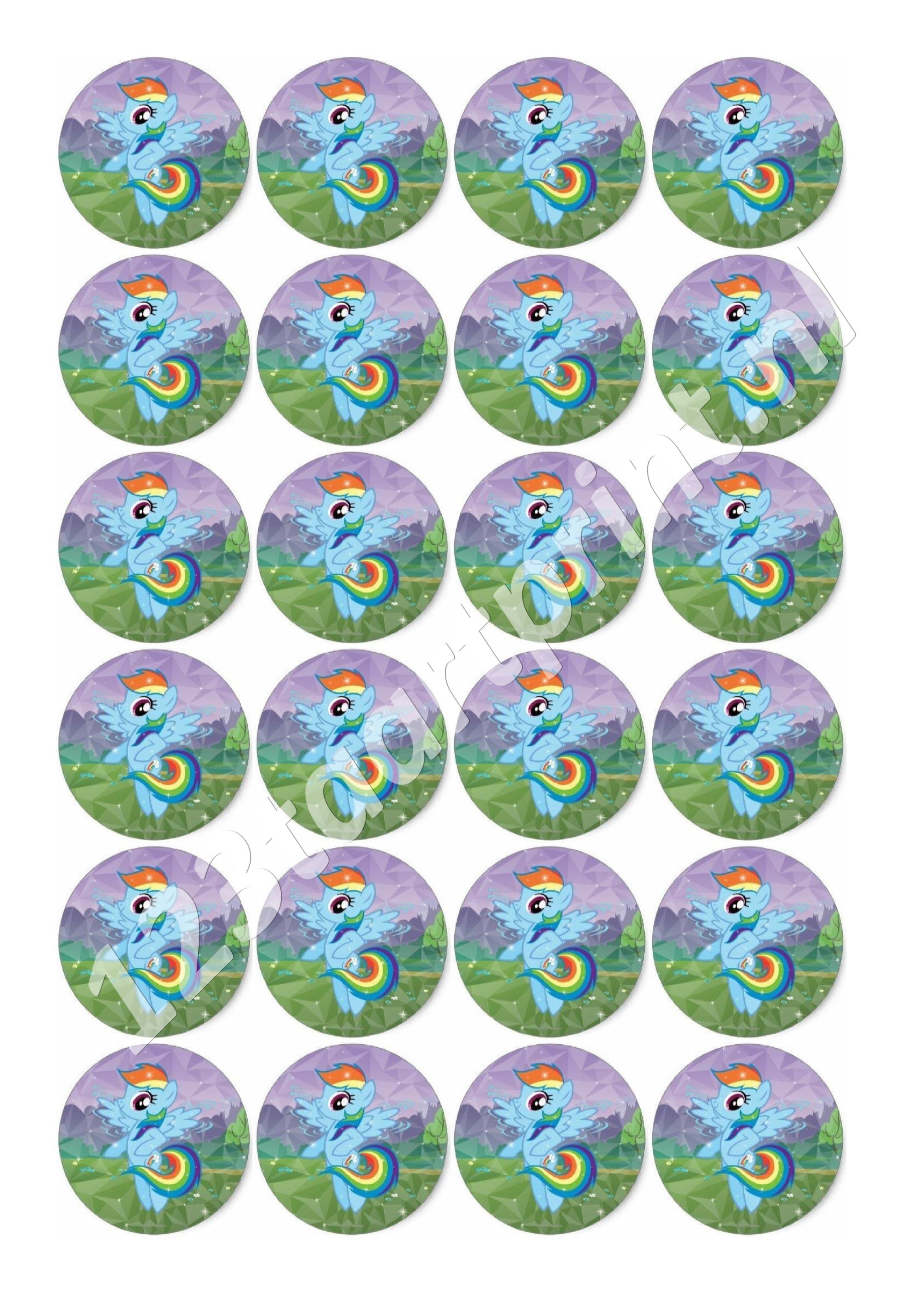 My Little Pony - Rainbow Dash cupcakes 2