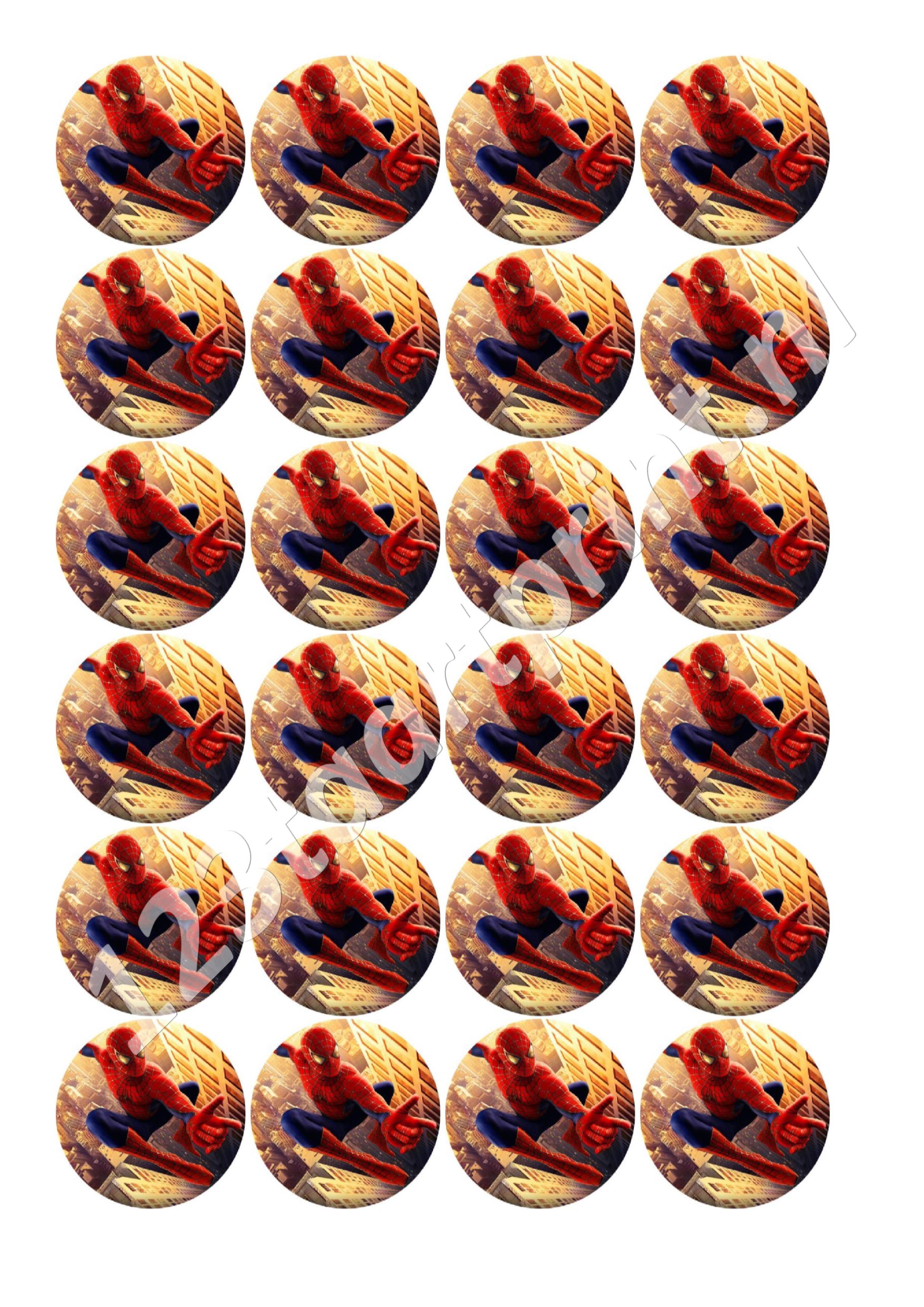 spiderman 7 cupcakes
