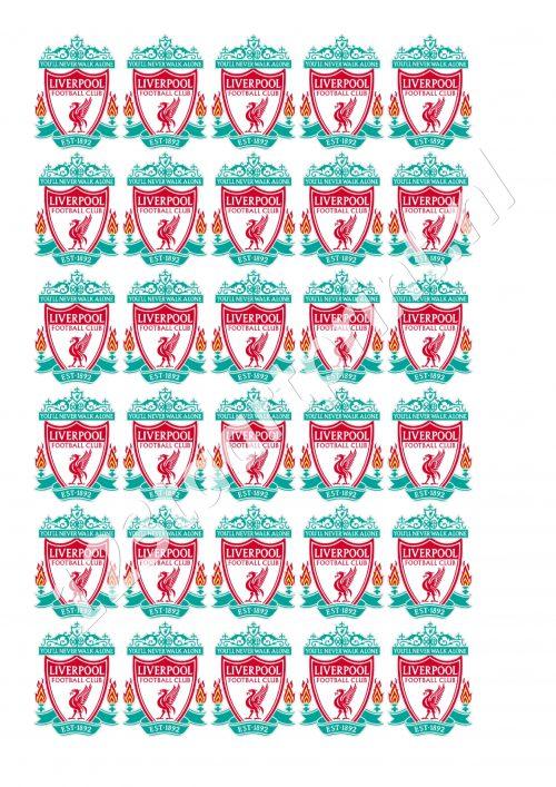 FC Liverpool cupcakes