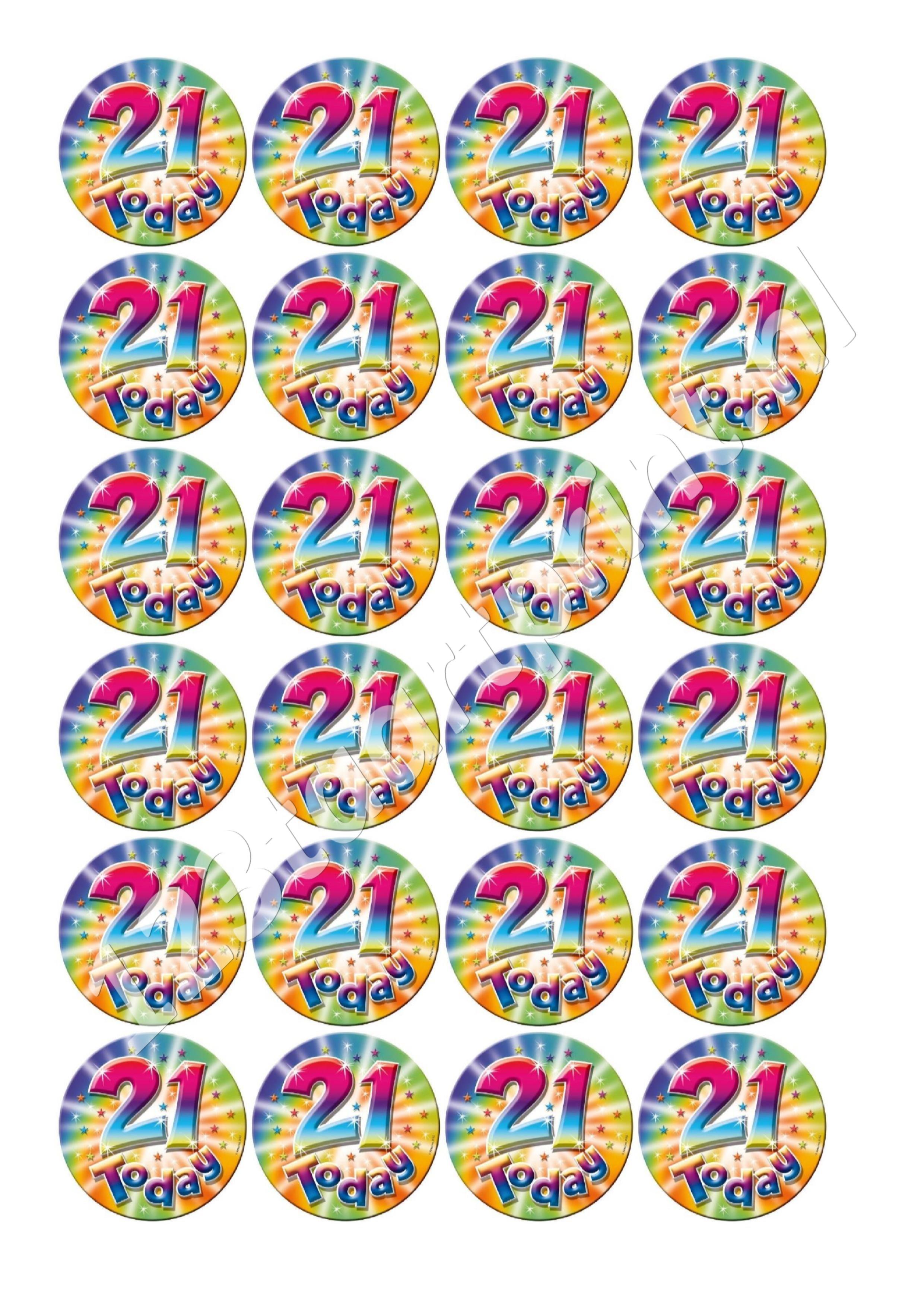 Verjaardag 21 cupcakes