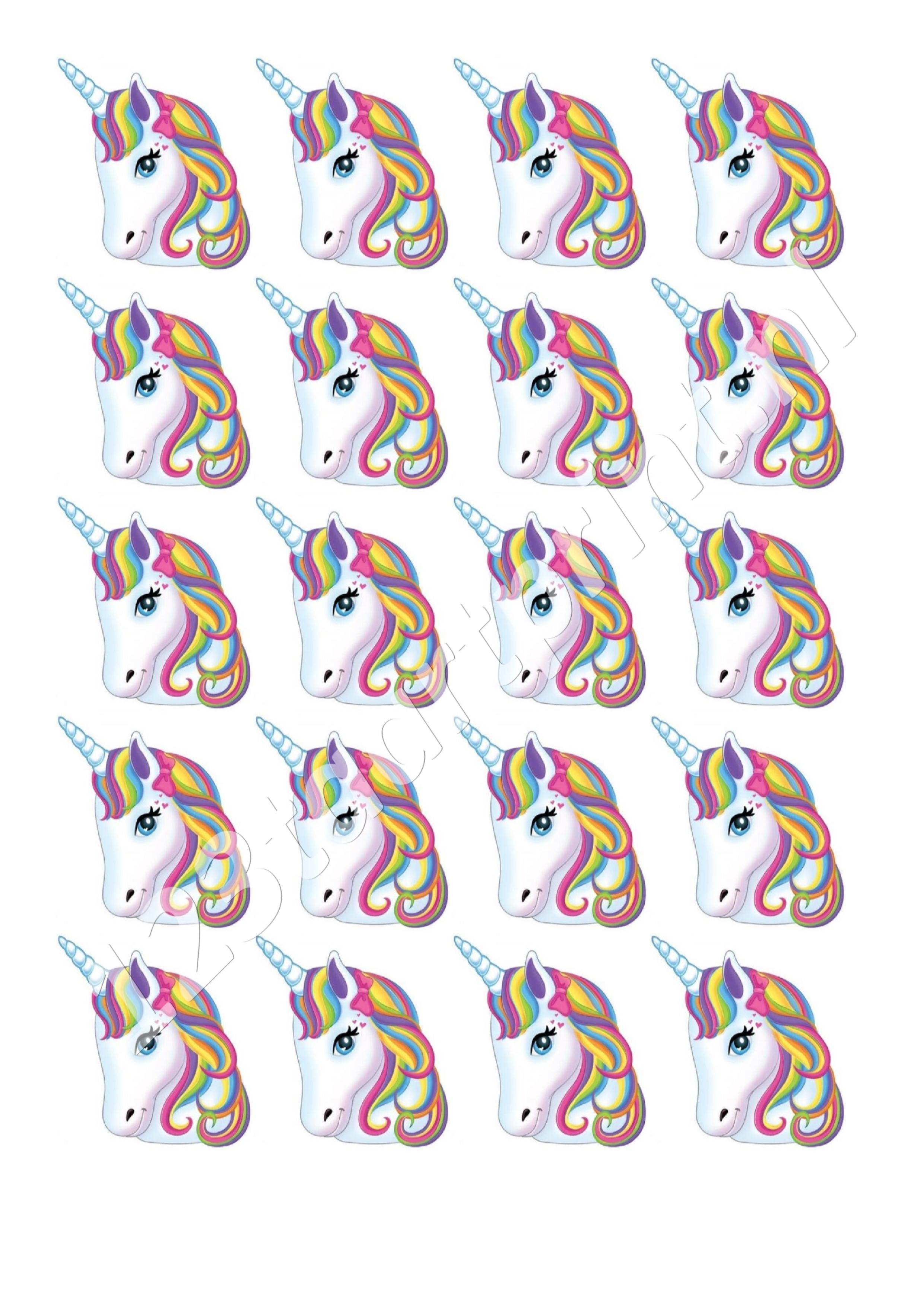 Unicorn hoofd cupcakes