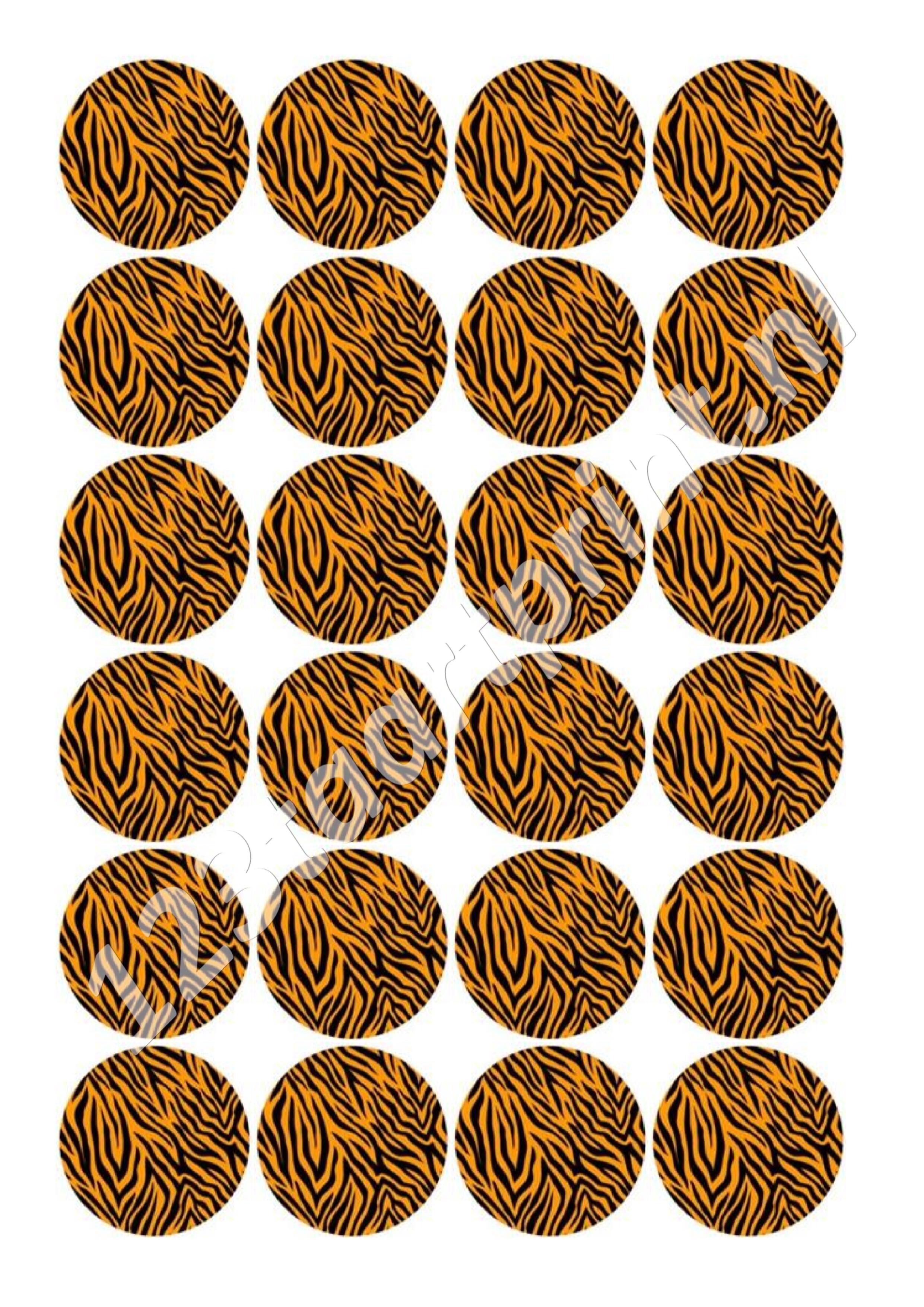 Tijgerprint cupcakes