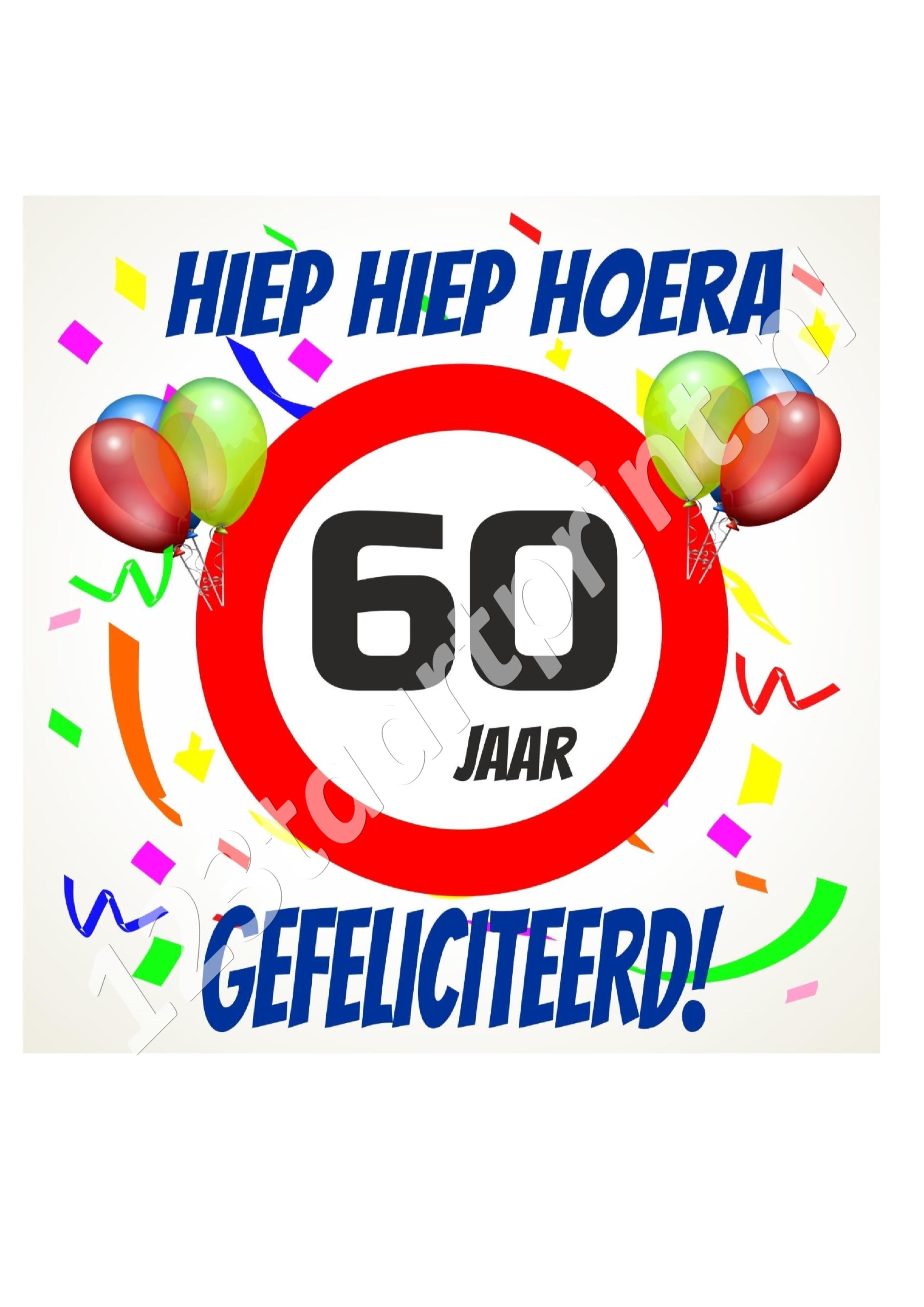 Verjaardag 60 jaar