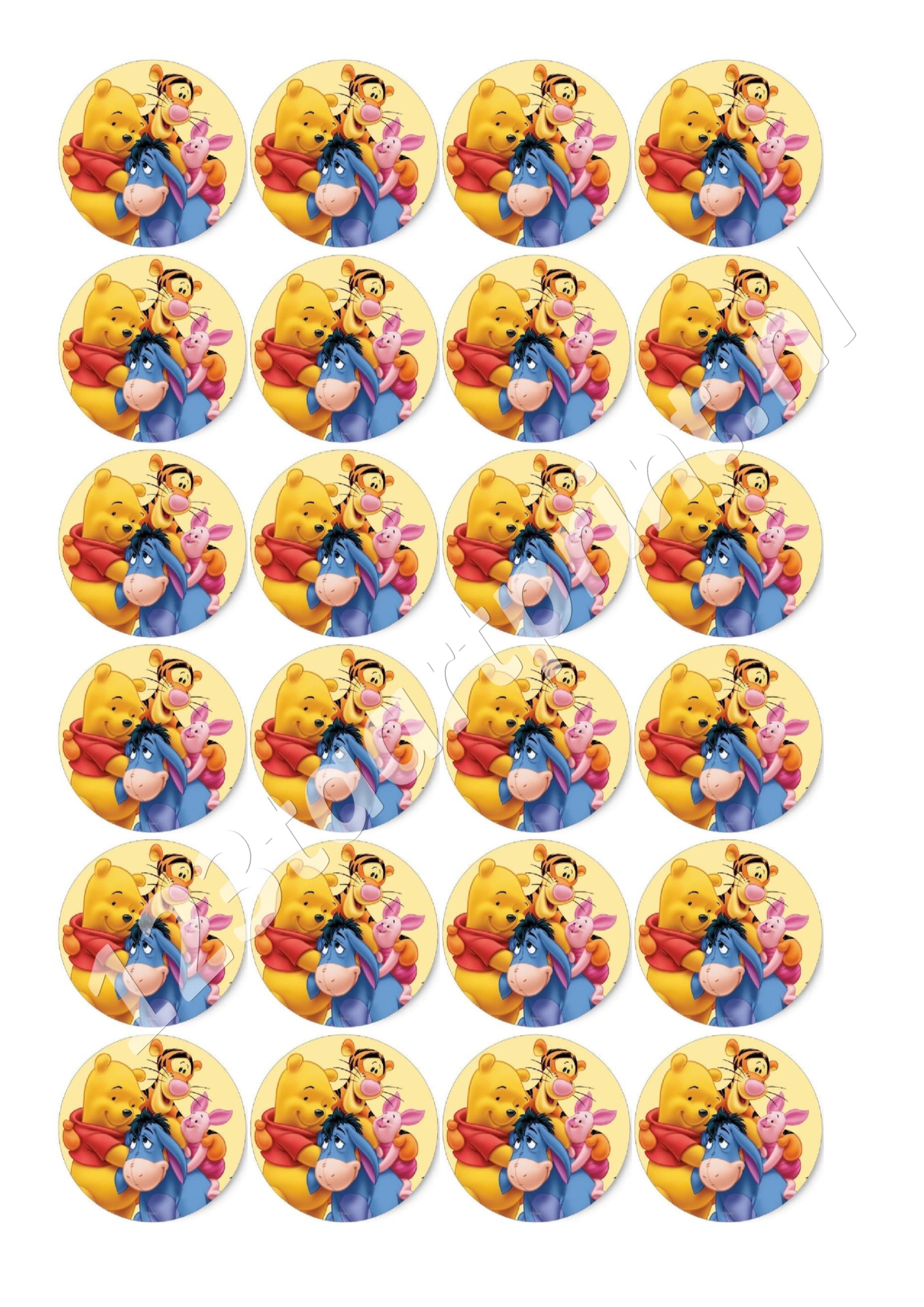 Winnie de Poeh cupcakes