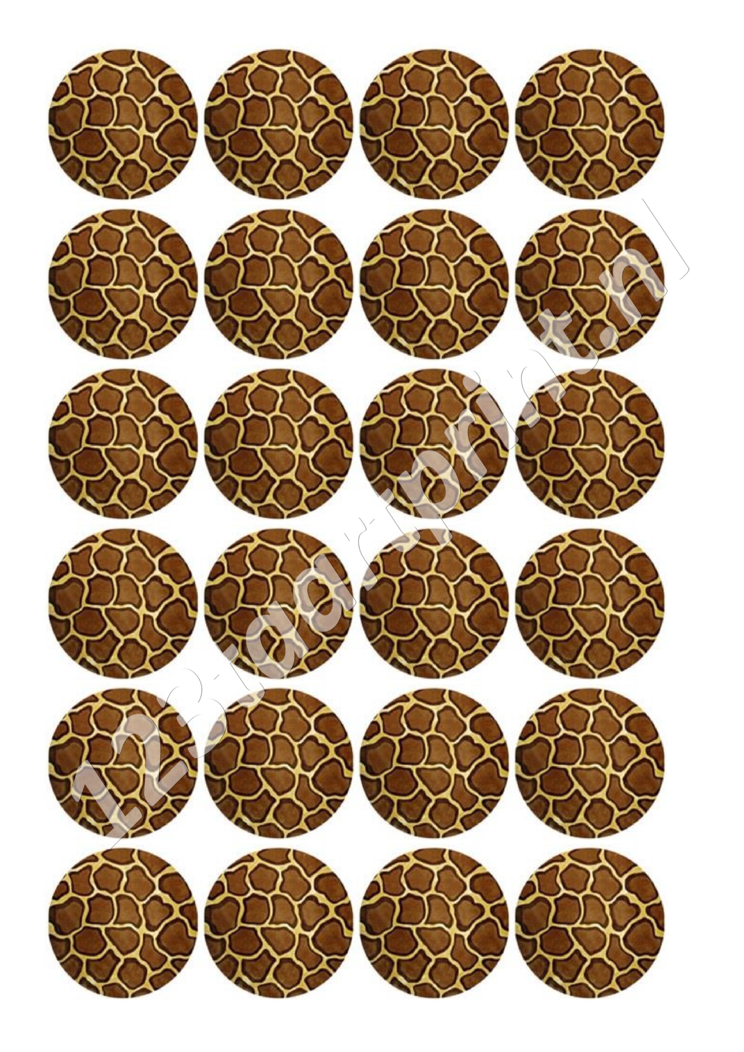 Giraf cupcakes