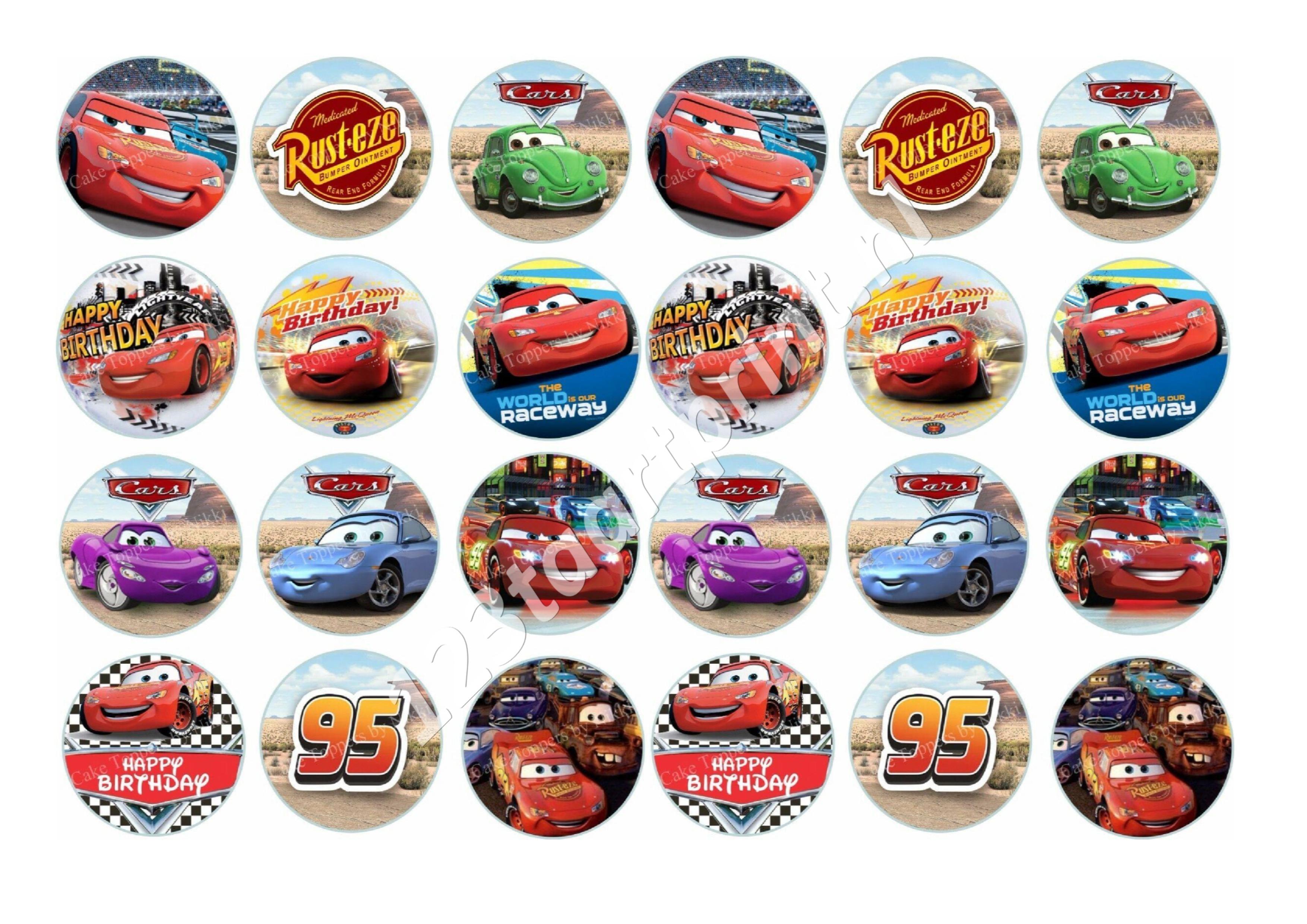 Cars 5 cupcakes