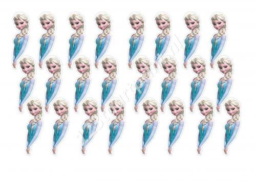 Elsa Cupcakae Toppers