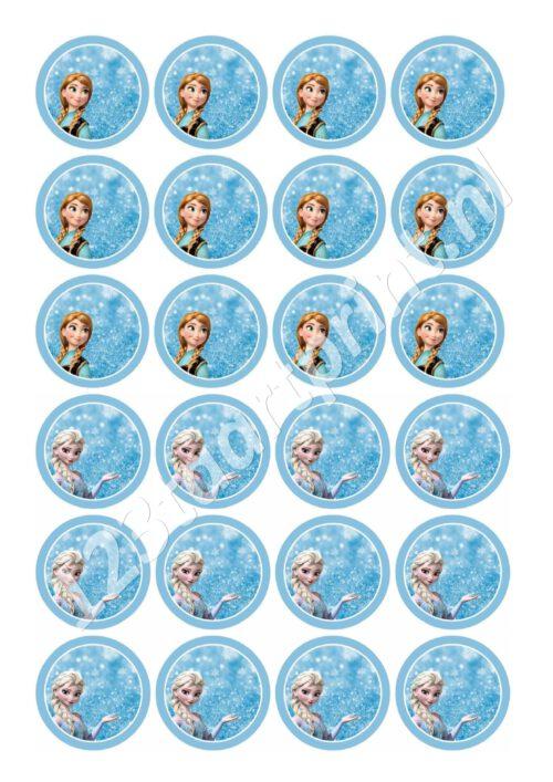 Anna en Elsa cupcakes 3