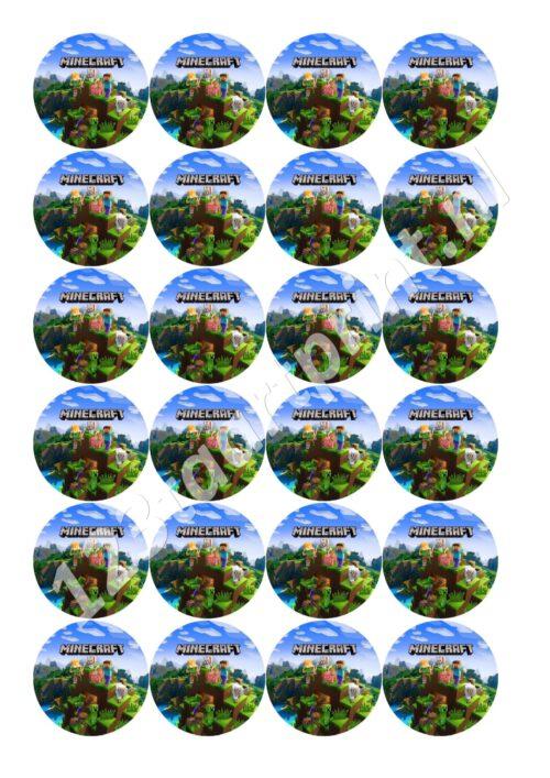 Minecraft 2 cupcakes